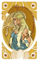 Game of Thrones' cards | Daenerys Targaryen by SimonaBonafiniDA
