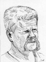 Abraham from The Walking Dead Sketch Card by Stungeon