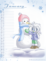 January 2009 calendar sheet by Amarena-Berry