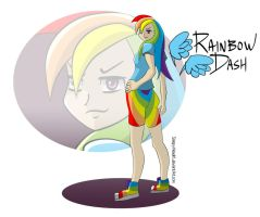 Rainbow Dash Human by SleepyHeadKL