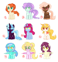 Adoptables 1 by Quila-Quila