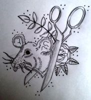 rat and scissor by swetattoo