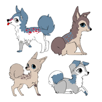 Ixchel and April Pups . For ~Emyli-Aurafire by MichelsAdoptions