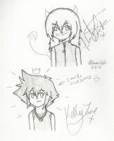 KH: KellyJane doodled on my drawing by InuKid