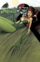 Poison Ivy painting continued by Andrew-Robinson