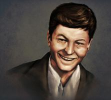 DeForest Kelley by HapticMimesis