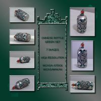 Chinese bottle green set by Wicasa-stock