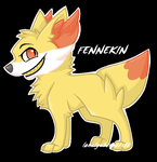 #653 - Fennekin by LonelyWhispers15