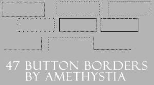 Buttons borders brushes by Amethystia2006