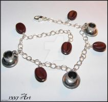 Coffee Charm Bracelet by 1337-Art