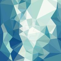 Turquoise Green Abstract Low Polygon Background by apatrimonio