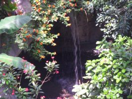 Cave Waterfall by TornPageDyedRed