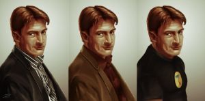Nathan Fillion - 3 Flavors by tabu-art