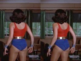 3d Debra Winger Wonder Girl Backside by 3dpinup