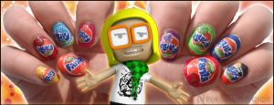 Fanta nails by Ninails