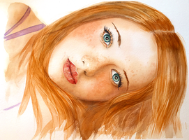 Womanly Vision - Breather by SteveHeggenAquarelle