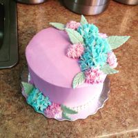 Hydrangea Cake by BrightlyWound455