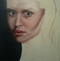 first oil painting WIP FAESTOCK by DreamControl371