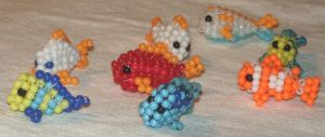 Beaded school of fishes by Anabiyeni