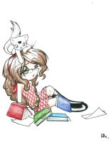 Dlie's and her cat by Dlie