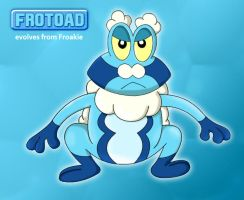 Frotoad ( Froakie's Fakemon Evolution ) by fcbayernmunchen