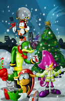 Chaotix Christmas by kintobor