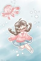 Princess Jellyfish by SuperMiniGigi