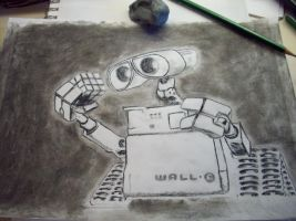 Wall - E in Charcoal by Vulpine-Hammer
