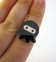 Black Ninjapus Ring by egyptianruin