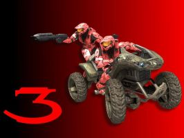 Halo 3 Wallpaper - Red w Goose by Joeshmoe59697