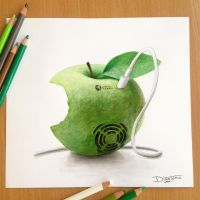 Apple Pencil Drawing by AtomiccircuS
