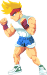 Generic Beatem Up Main Guy pixeled by cassio-kenji
