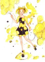 yellow balloons by luluChwan
