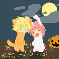 trick or treating :narusaku by shrimpxpuff