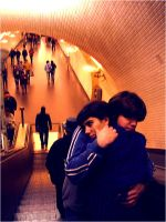 love me in the subway. by XtearXdropX