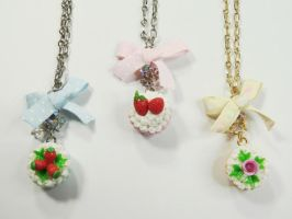 Mini Cupcake Ribbon Necklace by SweetandCo