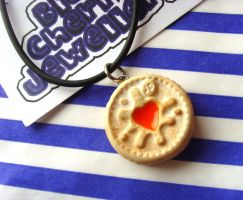 Mini Jammie Dodger Necklace by tyney123