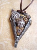 Unzipped heart Steampunk by SoDarkSoCute