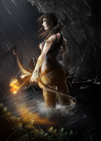 Lara Croft - A Survivor is Born by Nakubi