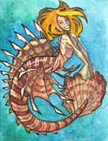 Minimermaid 4 ... lionfish by JessicaMDouglas