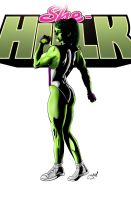 She-Hulk COLORS by craigdeboard111
