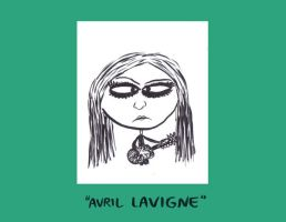 Avril Lavigne Caricature by Sherkeylock