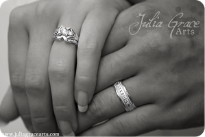 Wedding Rings by JuliaGraceArts