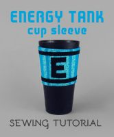 Sewing Tutorial - Megaman Energy Tank Cup Sleeve by SewDesuNe