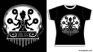 disco shiva tshirt design by starplexus
