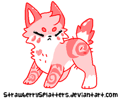Strawberry BubbleGum Puppy Adoptable (CLOSED!) by AquaCupcakeLord