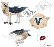Vulture Griffin Sketch Concept Doodle by MercyLasVegas