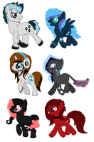 6 New OC's by iPandacakes