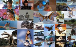 Rebirth of Mothra Trilogy Collage 2 by Joker-Hatter