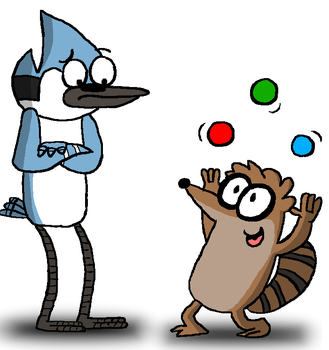 Mordecai and rigby by Young-Freddy